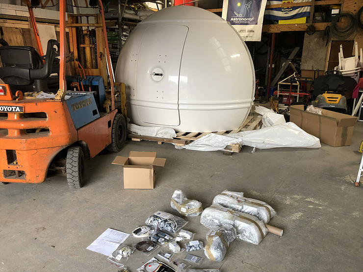 Assembling the new dome